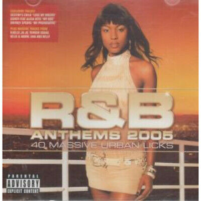 R&B ANTHEMS 2005 Various CD Europe Sony 40 Track 2 Disc Compilation Featuring