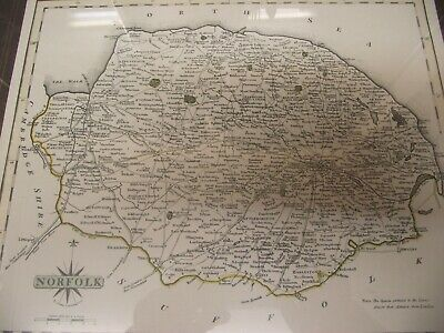 NORFOLK ANTIQUE COUNTY MAP 1787 (reproduction)