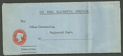 Qv Unused 1/2D Postal Stationery Ohms Wrapper Recruiting For Army 1898 Lo73