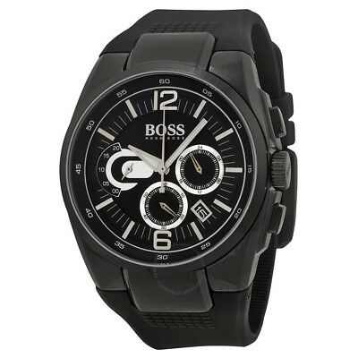 New Hugo Boss Chunky Sports Chronograph 1512736 Black Face Silicone Strap Boxed