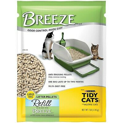 Purina TIDY CATS Breeze Cat Litter Pellets Refills net weight 7 lbs