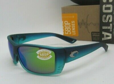 9b4406446 COSTA DEL MAR caribbean fade/green mirror CAT CAY POLARIZED 580P sunglasses  NEW!