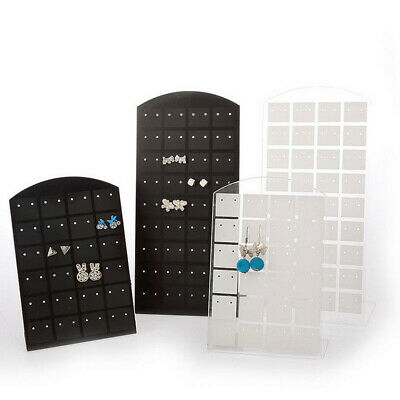 48/72 Holes Earring Studs Display Show Jewelry Rack Stand Organizer Holder Black