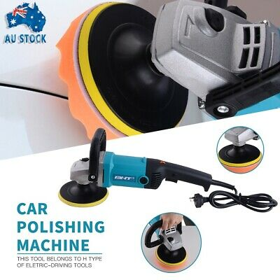 NEW Polisher Car Buffer 180mm 150mm Sander Electric Tools kit 6 Speed 1600W 240V