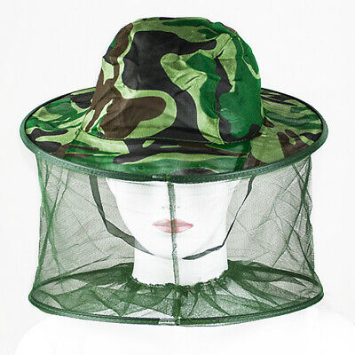 Outdoor Mosquito Bug Insect Bee Resistance Net Mesh Head Face Protector Hat Cap