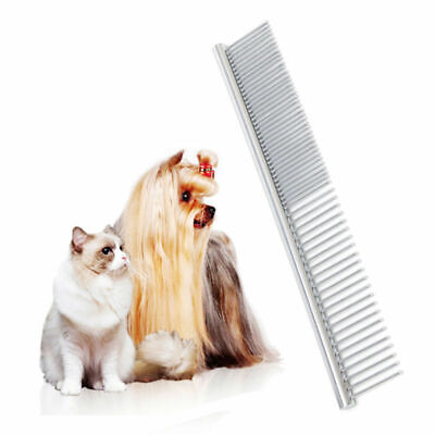 Pets Stainless Steel Comb Hair Brush Shedding Flea For Cat Dog Trimmer Grooming