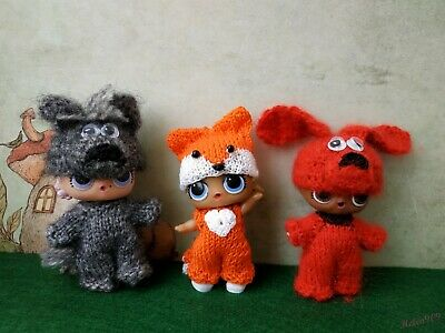 6 styles animal costume for LoL surprise, LoL doll outfit, handmade clothes