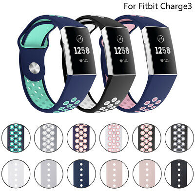 12 Colors Soft Replacement Silicone Rubber Band Strap For Fitbit Charge3