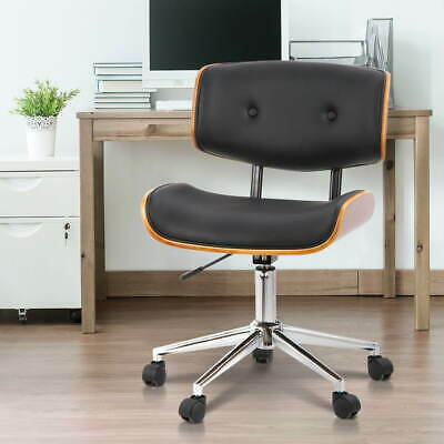 Artiss Wood Premium PU Leather 360°wivel Seat Executive Walnut Office Desk Chair