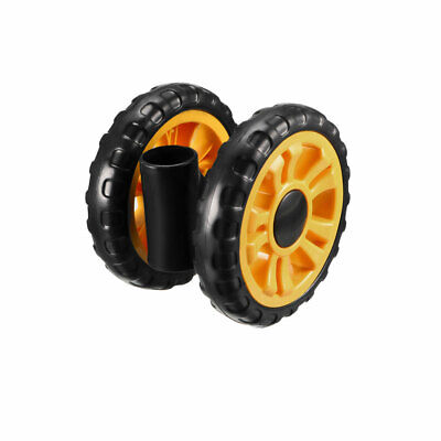 uxcell Swivel Pulley Wheel 120mm//4.73inch Dia Rubber Foaming Twin Wheel for 17mm Round Tube
