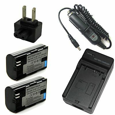 Charger + 2x 2200mAh Battery for LP-E6 Canon EOS 6D EOS 6D(N) EOS 6D(WG) EOS 7D
