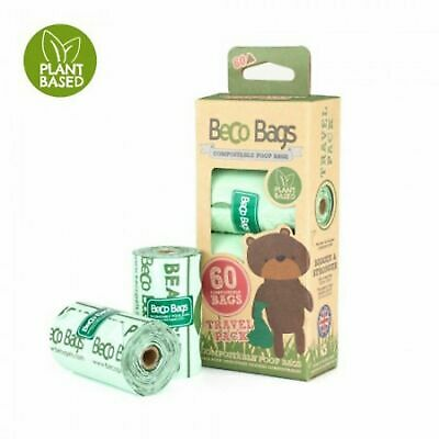 60 Beco Bags Compostable Dog Poo Bags Made with corn starch Plant Based