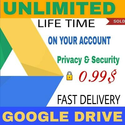 Unlimited Google Drive On Existing Acc For Lifetime!!Dont Miss It!