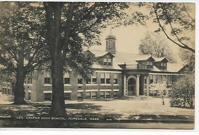 NORTH BROOKFIELD, MA - High School, front/right side corner view