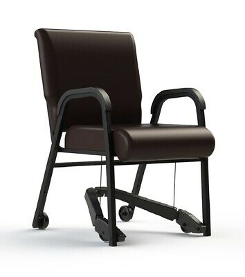 "NEW Comfortek Titan Royal EZ ROOTBEER 18"" Seat Rolling Chair"