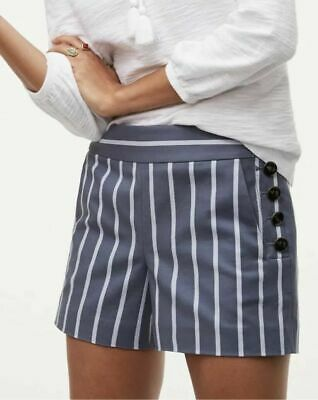 NWT Ann Taylor LOFT Sailor Riviera Striped Shorts Womens Size 8 WORN ONCE