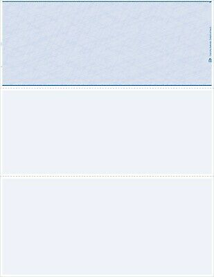 1000 Quality Blank Computer Check Paper Stock - Check On Top