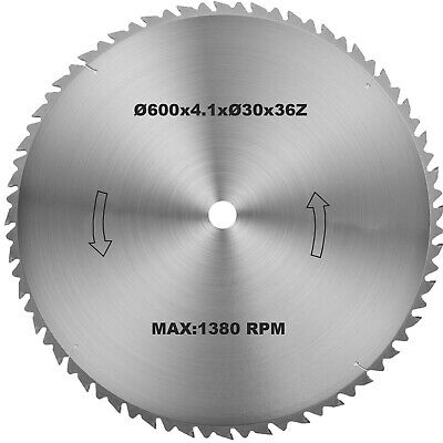 Lame de scie circulare à bois Hm  600mmx30mm 36z Made in Germany