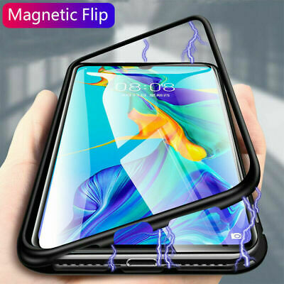 Case For Huawei Mate 20Pro P30 Pro Lite P20 Magnetic Edge Glass Back Phone Cover