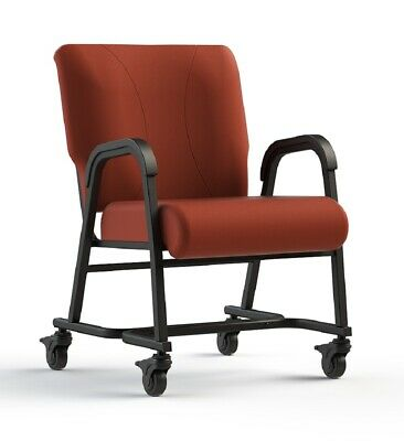 "NEW Comfortek Titan Castered CORDOVAN 20"" Seat Rolling Chair"