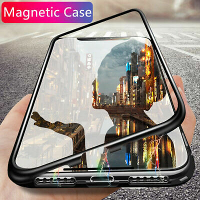 Magnetic Absorption Metal Bumper Glass Case Cover For Huawei P30Pro P20 Pro/Lite