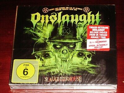 Onslaught: Live At The Slaughterhouse DVD + CD Set 2016 Germany AFM 516-7 NEW
