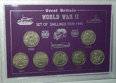 The WWII Years Shillings of World War Two II 1939-1945 Shilling Coin Gift Set