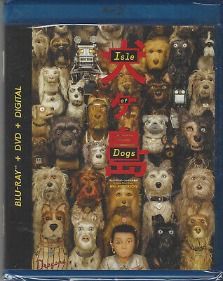 Blu-Ray + DVD Wes Anderson ISLE OF DOGS  New/F'sld!