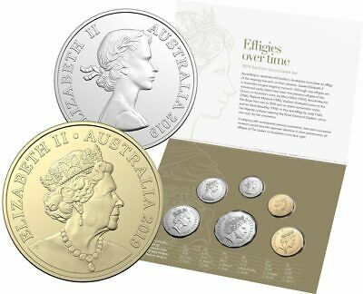 2019 Royal Australian Mint Six Coin Mint Set - Effigies Over Time