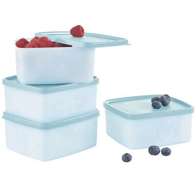New ~ Tupperware Freeze-It Plus Small 4-piece Containers Set