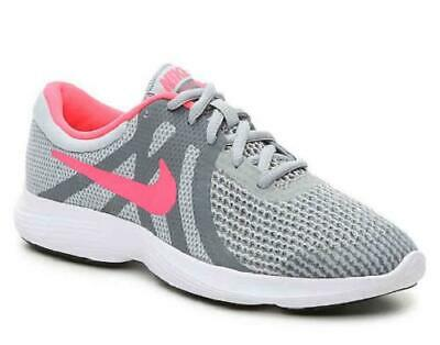 06b3000ea15ec Nike Revolution 4 Girls Shoes Gray Athletic Running Sneakers Shoes Kids  943306
