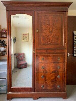 Large Antique Edwardian Wardrobe By JAS SHOOLBRED & CO