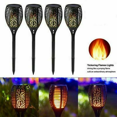 Solar 96 LED Torch Lights Dancing Flickering Fire Flame Garden Landscape Lamp UK