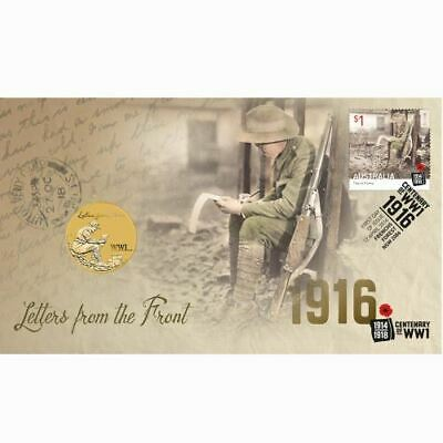 2016 Australia PNC $1 UNC Coin - Letters from the Front Centenary of WWI