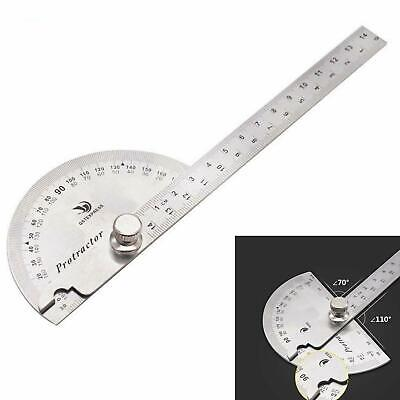 180° Stainless Steel Protractor Angle Finder Arm Measuring Ruler Tool Portable
