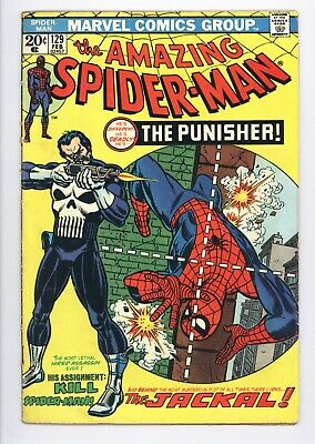 Amazing Spider-Man #129 Vol 1 Very Nice Upper Mid Grade 1st App of the Punisher