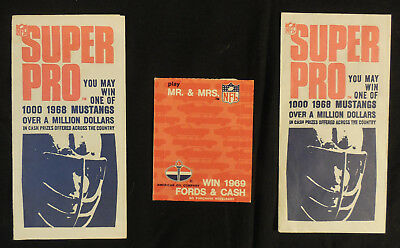"""1967 OR 1968 AMOCO Unopened """"Wax"""" pack FootBall Stamp Panels Super Pro Mr & Mrs"""