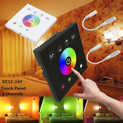 DC12V-24V RGB RGBW Full Color LED Strip Light Wall Touch Switch Panel Controller