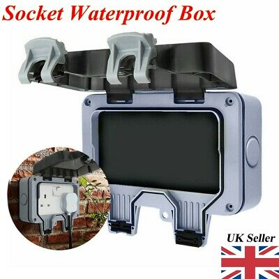 IP66 Waterproof Case for Wall Switch Double Weatherproof Outdoor Bathroom UK