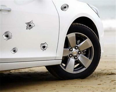 Fake Bullet Hole Shots 3D Car Styling Funny Car Helmet Stickers Decal LA