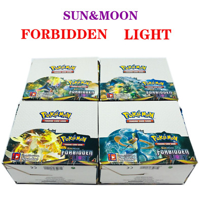 "324pcs (36 pack) Pokemon Cards Sun & Moon ""FORBIDDEN LIGHT"" Booster Box English"