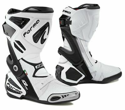 New Forma Ice Pro Flow motorcycle boots mens white road racing track race motogp