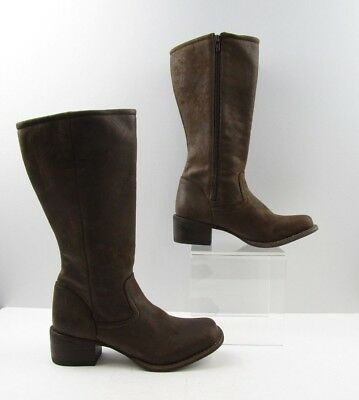 Ladies Durango Brown Leather Square Toe Cowboy Western Boots Size: 6.5 M