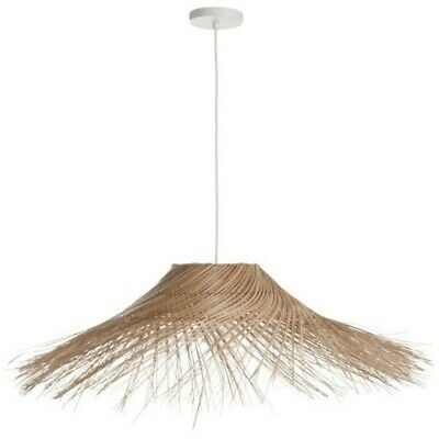 "Paris Prix - Lampe Suspension En Osier ""coco"" 90cm Naturel"