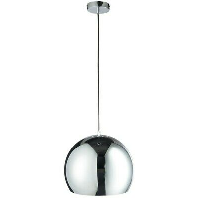 "Paris Prix - Lampe Suspension Boule ""round"" 120cm Argent"