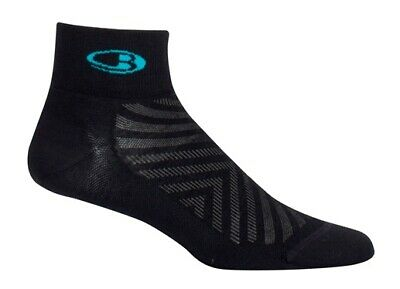 Icebreaker Run+ Ultralight Mini Women Socken Sport Laufen Outdoor black lagoon
