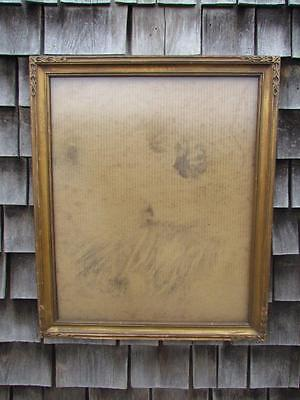"ANTIQUE circa 1910 ARTS & CRAFTS HAND CARVED PAINTING FRAME,FITS 24X20"" INCHES"