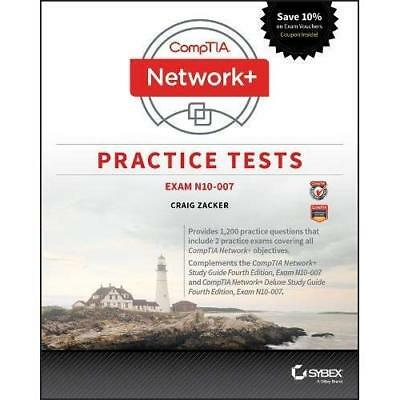 Comptia Network+ Practice Tests - Paperback NEW Zacker, Craig 01/05/2018