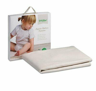 The Little Green Sheep Organic Waterproof Cot Bed Mattress Protector 70x132cm