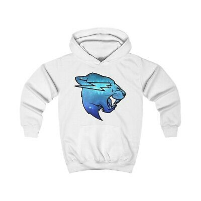 Mr Beast Blue Galaxy Logo Hoodie KIDS Merch Beast Gift 3-12 Years
